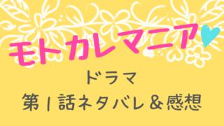 モトカレマニア1話ネタバレ感想口コミ!新木優子×高良健吾W主演ラブコメディー!